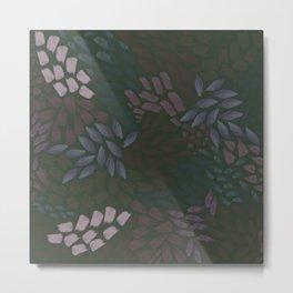 Petal Pattern in Dusk Metal Print