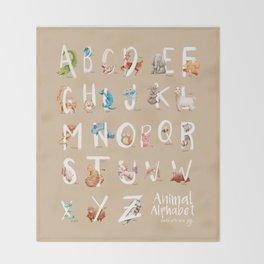 Animal Alphabet Throw Blanket