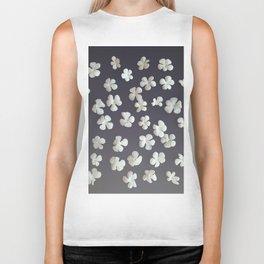 White petals3 Biker Tank