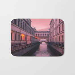 Hermitage Bridge, Saint Petersburg, Russia Bath Mat