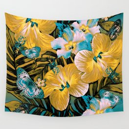 Golden Vintage Aloha Wall Tapestry