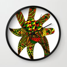 Finger Palm Tree Wall Clock