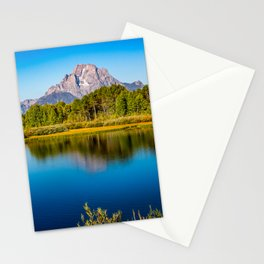 Oxbow Bend - Mt Moran in the Grand Tetons Stationery Cards