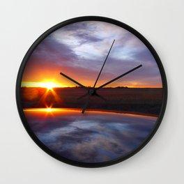'Prarie Sunrise' Wall Clock