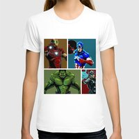 avenger T-shirts featuring Avenger Team by Carrillo Art Studio