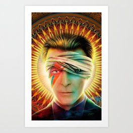 Bowie comic book Tribute cover Art Print
