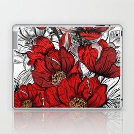 RED PEONIES PATTERN Laptop & iPad Skin