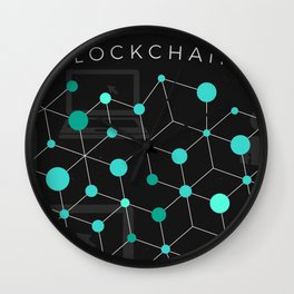 Cool Bitcoin crypto currency block chain Wall Clock