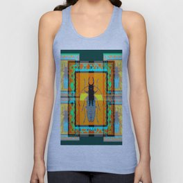 WESTERN TEAL TURQUOISE BEETLE ORANGE ART DESIGN Unisex Tank Top