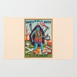 Kali Hindu Goddess Devi Shakti Matches Vintage Graphic Rug