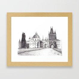 Charles Bridge in Prague, Czech Republic Framed Art Print