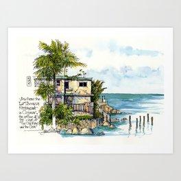 Hemingway's Cuba:  View from La Terraza Art Print