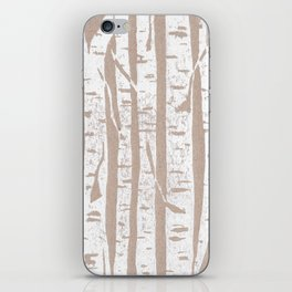 Woodcut Birches iPhone Skin