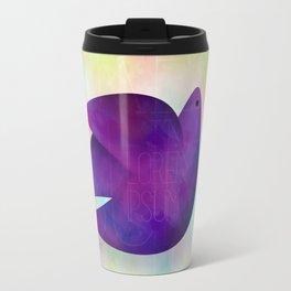 watercolor bird  Travel Mug