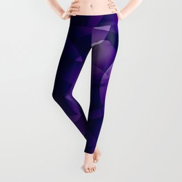 Dark intersecting blueberry translucent circles in bright colors with a mauve glow. Leggings