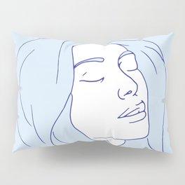 Woman in Reverie Light Blue Pillow Sham