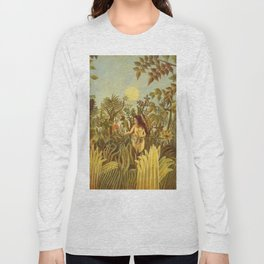 "Henri Rousseau "" Eve in the Garden of Eden"", 1906-1910 Long Sleeve T-shirt"