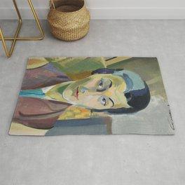 """Robert Delaunay """"Portrait of Maria Lani"""" Rug"""