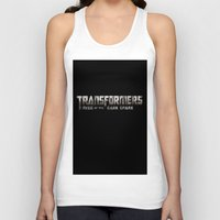 transformers Tank Tops featuring Transformers Logo by Батзаяа Г.