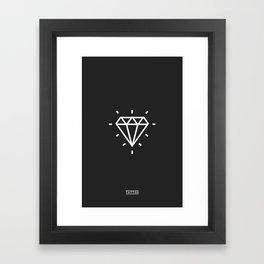 Diamond Tattoo Framed Art Print