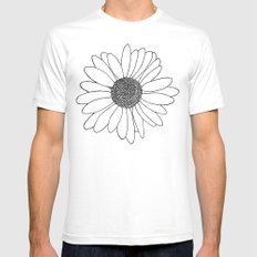 Daisy Boarder SMALL White Mens Fitted Tee
