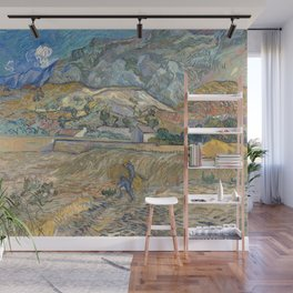 Van Gogh, Enclosed Wheat Field with Peasant Wall Mural