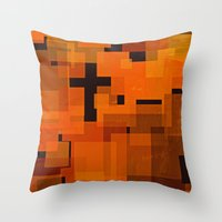 justin timberlake Throw Pillows featuring JUSTIN by Stephanie Eades