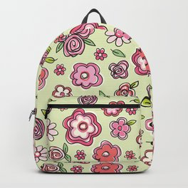 Whimsical Spring Flowers Backpack
