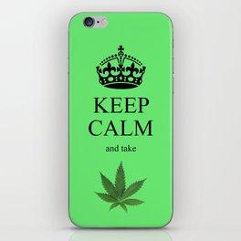KEEP CALM CANNIBIS iPhone Skin