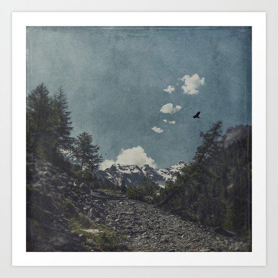 Hike a Mountain! Art Print