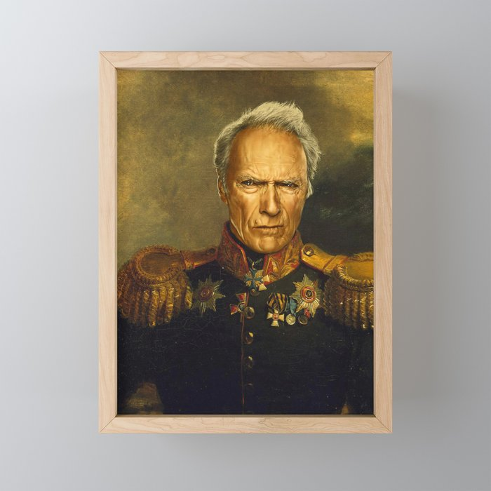 Clint Eastwood - replaceface Framed Mini Art Print