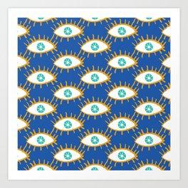 Eyes don't lie Art Print