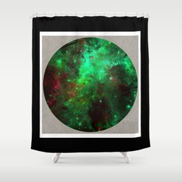 Captured Space - Abstract, geometric, outer space themed art Shower Curtain