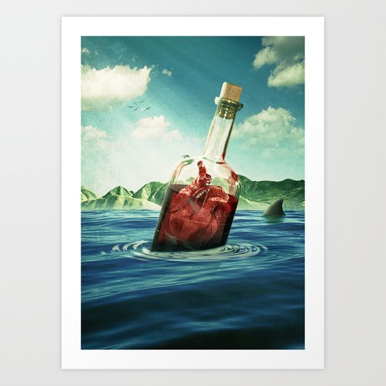 The island of enchantment Art Print