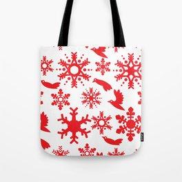 Snowbird Pattern Tote Bag