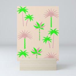 Palm Trees - Green & Neutral Mini Art Print