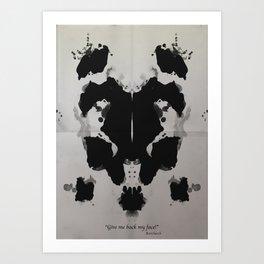 Rorscharch Art Print