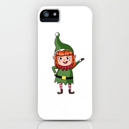 Christmas Elf North Pole elves Children Gift iPhone Case