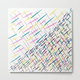 Diagonal Lines No_8874 Metal Print
