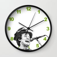 robin williams Wall Clocks featuring williams by BzPortraits