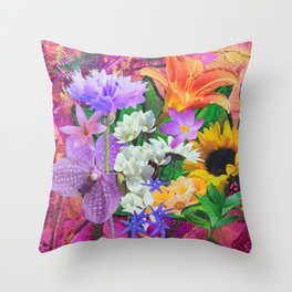 Color Riot Throw Pillow