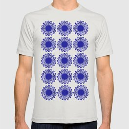 vintage flowers blue  T-shirt