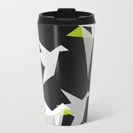 Black and White Paper Cranes Travel Mug