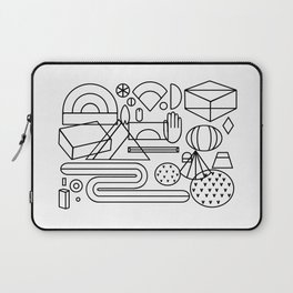 Geometric feast; geometry pattern; geometry illustration;coloring book Laptop Sleeve