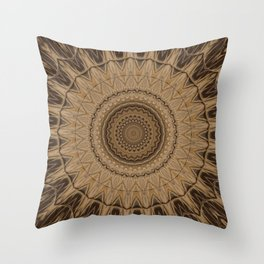 Sequential Baseline Mandala 15 Throw Pillow