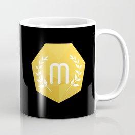 1 Million Points Badge on Black Coffee Mug