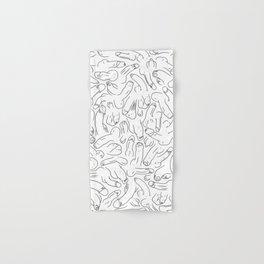Penis Pattern Black Hand & Bath Towel