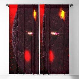 Large purple asteroid Blackout Curtain