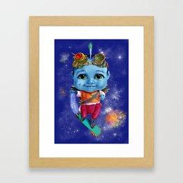 Punki, senior courier at Little Wingsters Framed Art Print