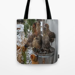 Meeting of the Hens Tote Bag